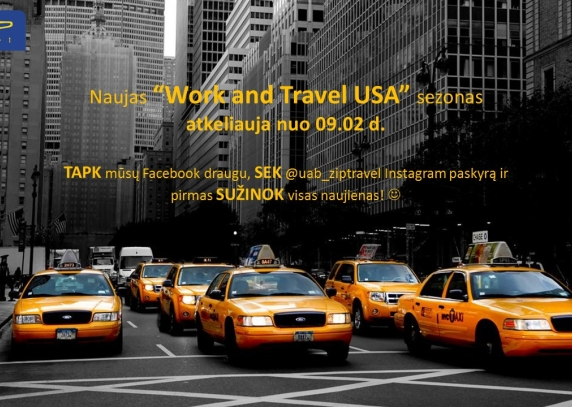 Naujas Work and Travel USA sezonas jau nuo rugsėjo 2 d.!